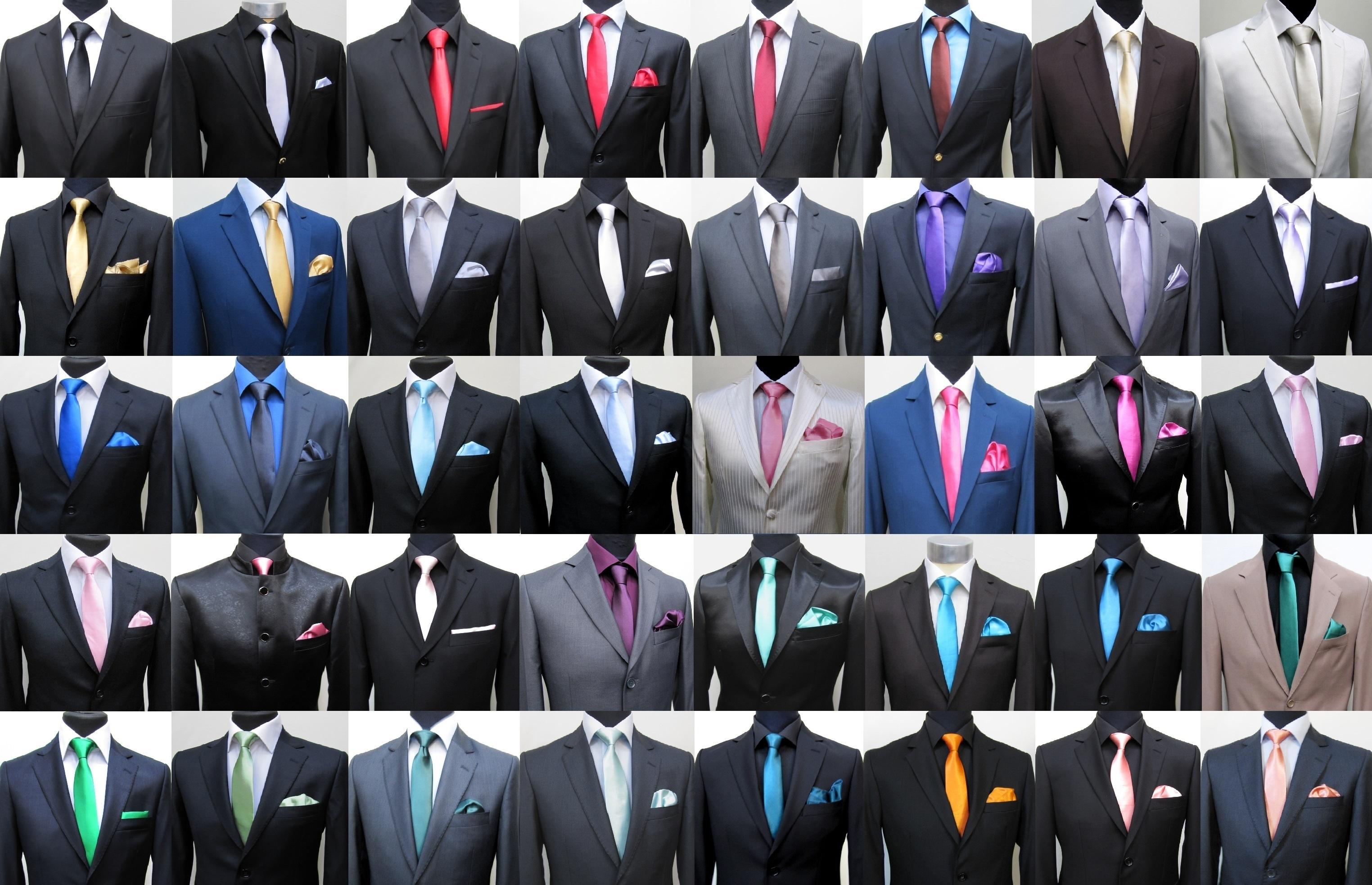 Muga krawatte schmal slim 6 cm mit einstecktuch rot ebay for Passende farbe zu rot