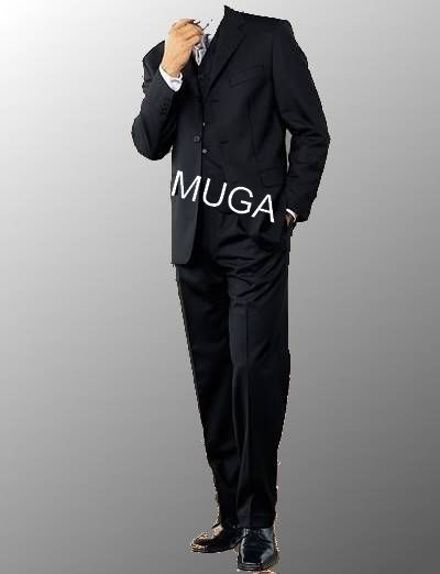 Muga Make Up Guru Africa: Muga Hommes Costume+Gilet Noir
