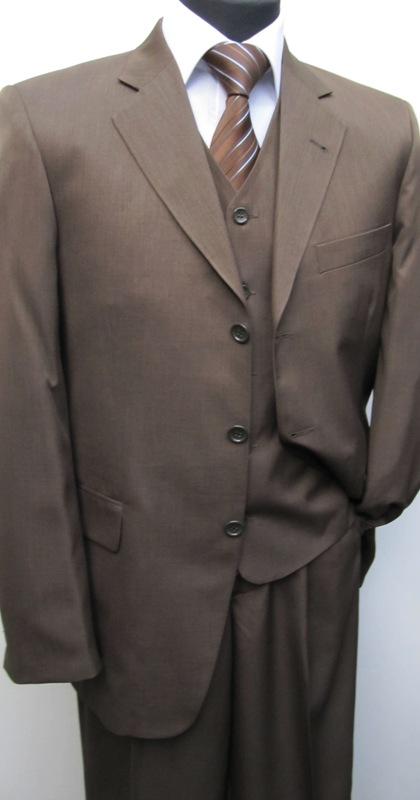 10 l gante messieurs costume gilet muga taille 48 marron ebay. Black Bedroom Furniture Sets. Home Design Ideas