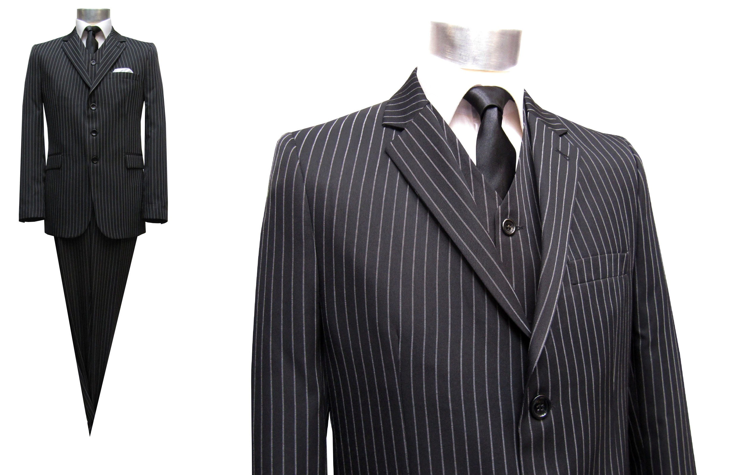 Mens-Suit-Pinstripe-Wool - Muga Wedding Clothing