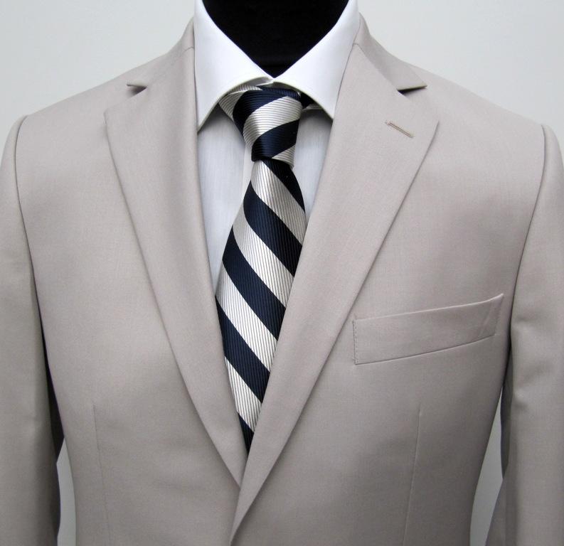 130 muga herren anzug elegant slim fit gr 56 beige ebay. Black Bedroom Furniture Sets. Home Design Ideas