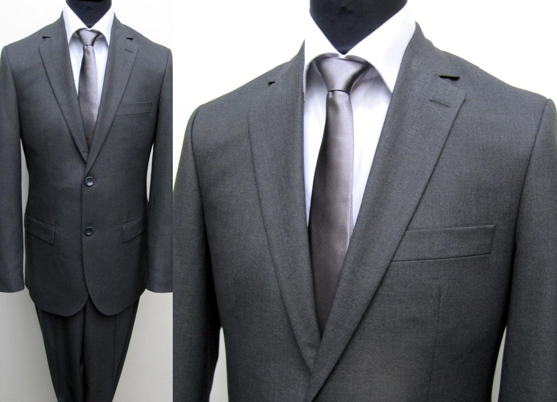130 slim fit herren anzug muga gr 48 anthrazit ebay. Black Bedroom Furniture Sets. Home Design Ideas