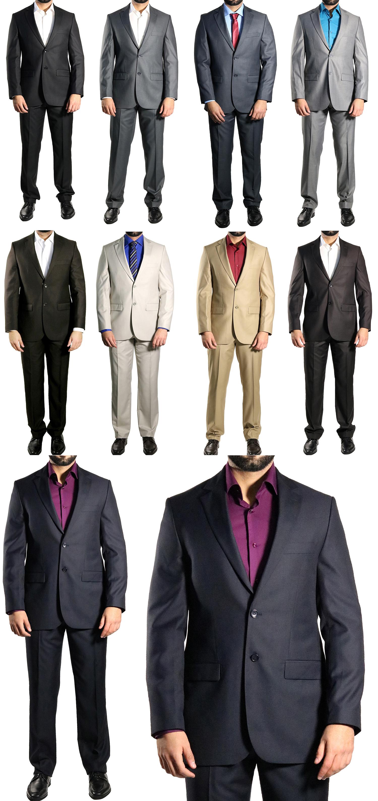 130 muga herren anzug slim fit gr 54 dunkelblau ebay. Black Bedroom Furniture Sets. Home Design Ideas