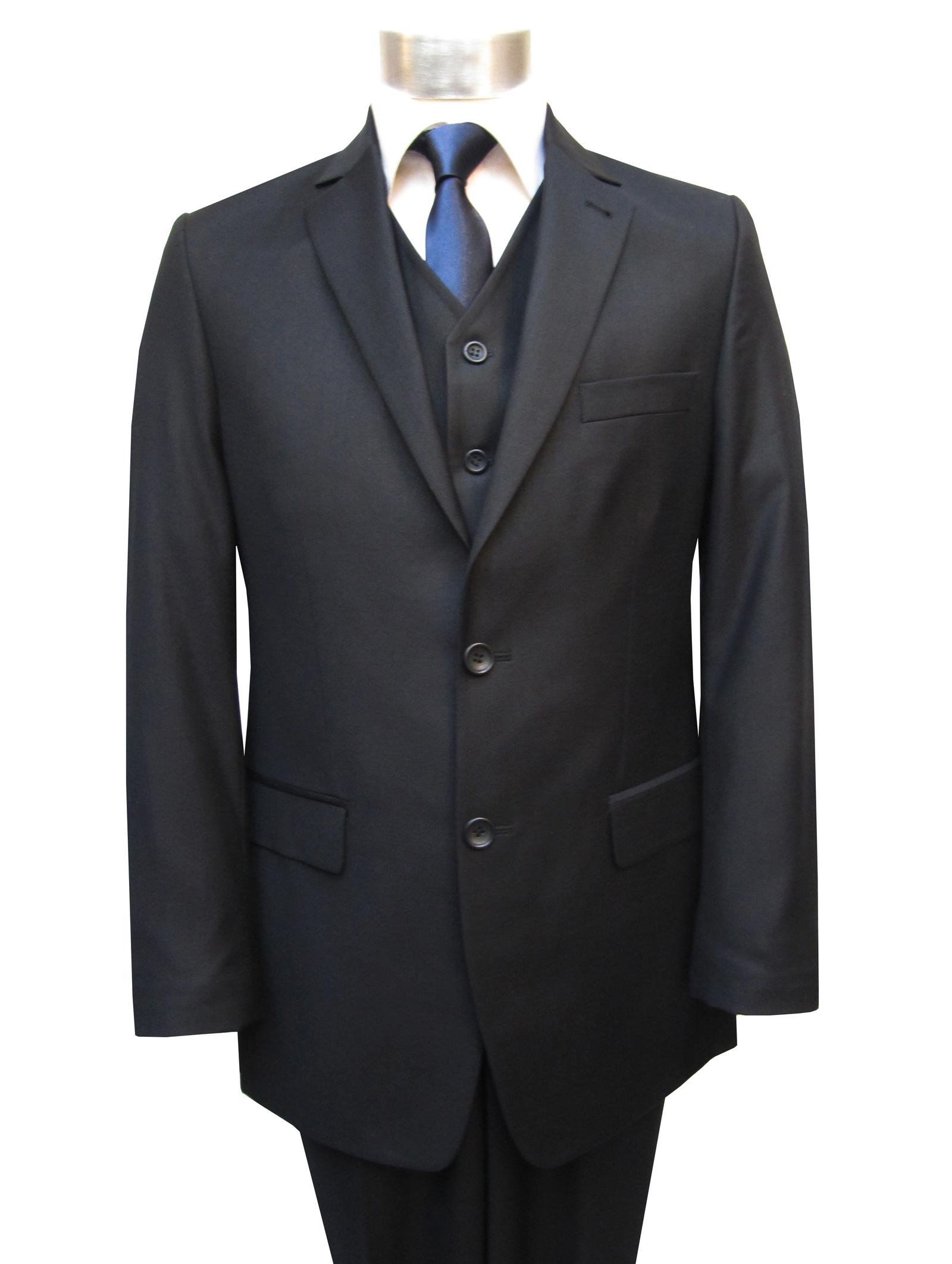 elegante herren anzug 3 teilig dunkelblau ebay. Black Bedroom Furniture Sets. Home Design Ideas