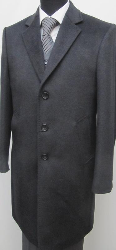 51 muga herren mantel wool kaschmir dunkelgrau picclick. Black Bedroom Furniture Sets. Home Design Ideas