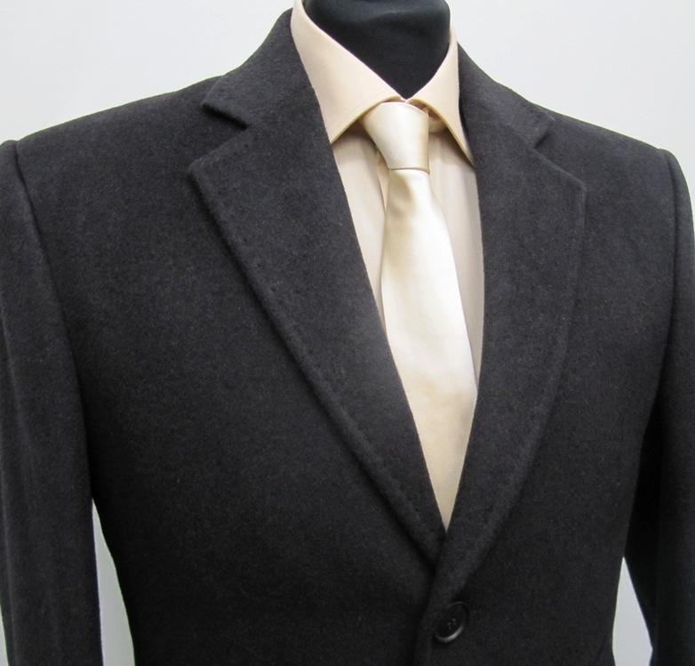 51 muga herren lang mantel wool kaschmir braun ebay. Black Bedroom Furniture Sets. Home Design Ideas