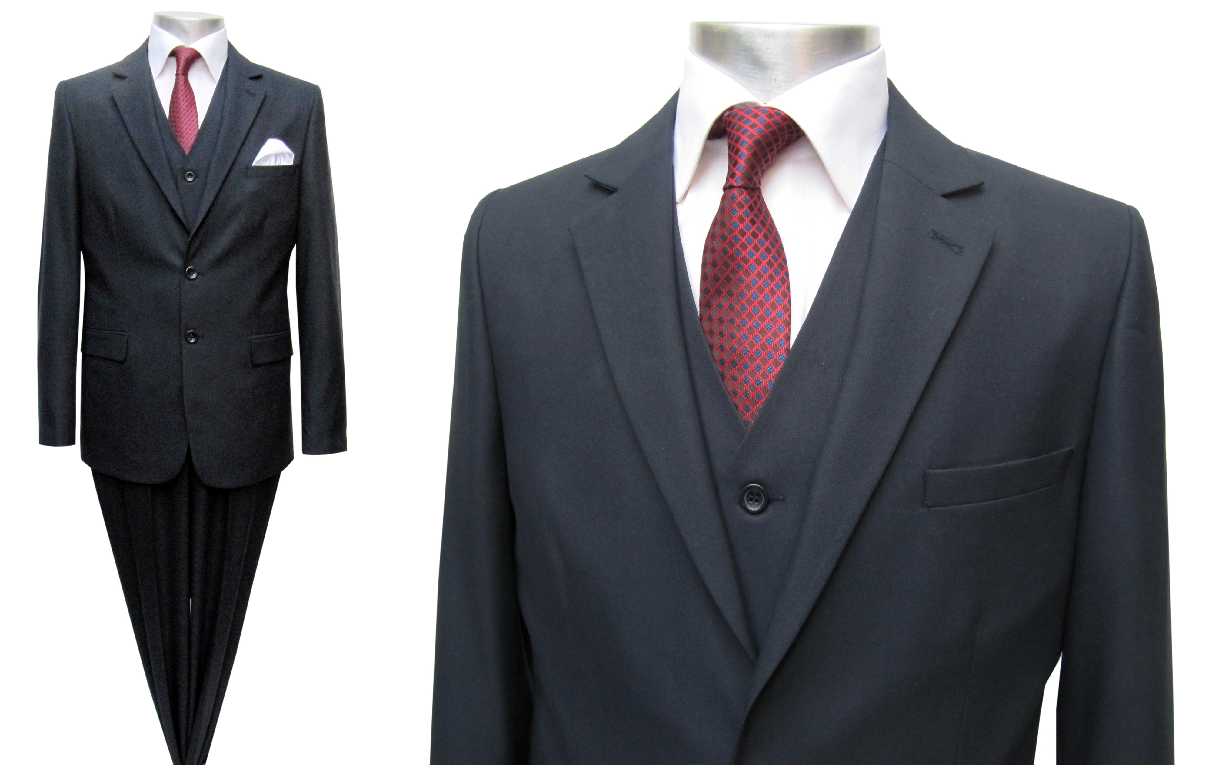 elegante muga herren anzug 3 teilig dunkelblau herrenausstatter. Black Bedroom Furniture Sets. Home Design Ideas