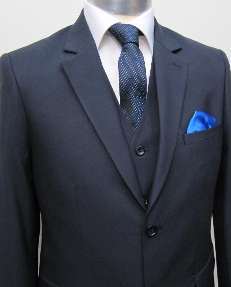 elegante muga herren anzug 3 teilig dunkelblau herrenausstatter k ln. Black Bedroom Furniture Sets. Home Design Ideas