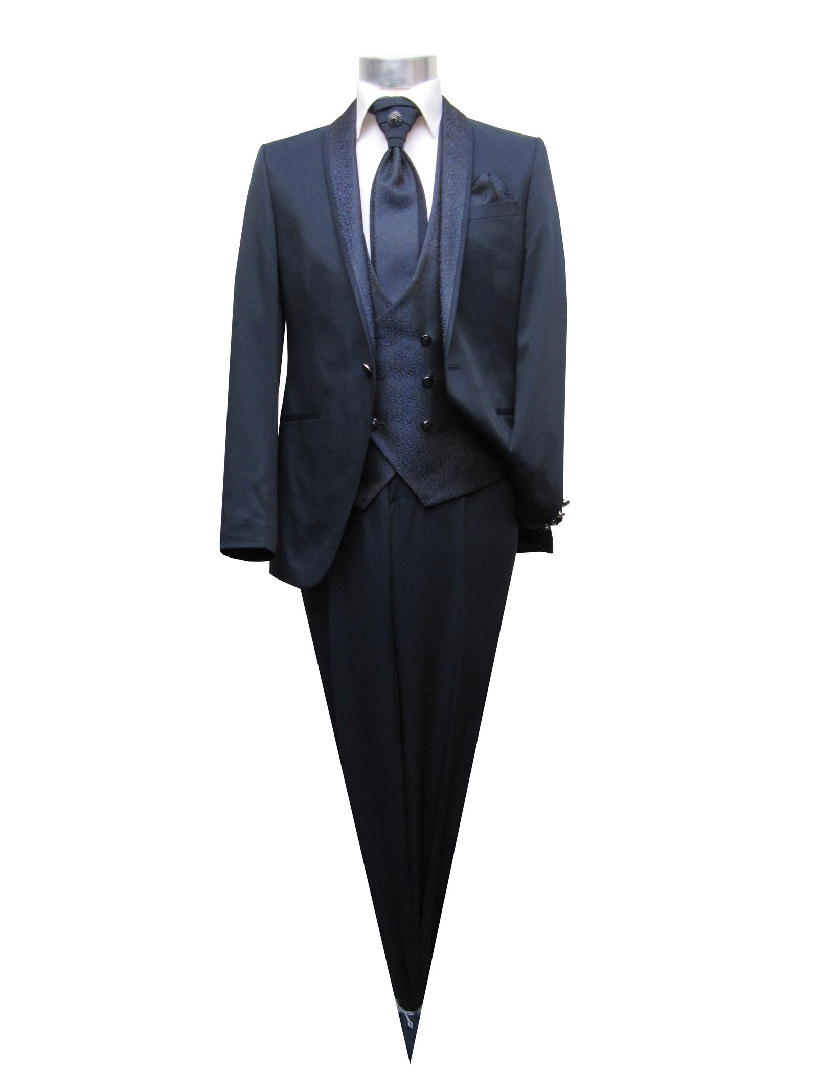 Details zu Schalkragen Herren Anzug 5 teilig Gr.60 Blau