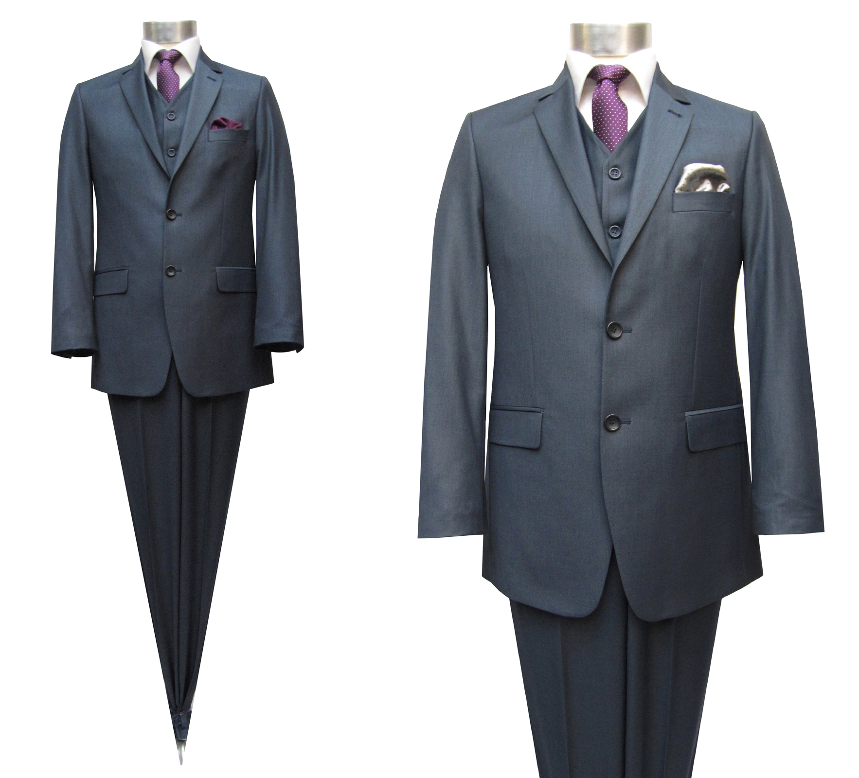 Muga Homme Costume Grisbleu 120s 3 Pièces Design by MUGA ® 50f083d97dd