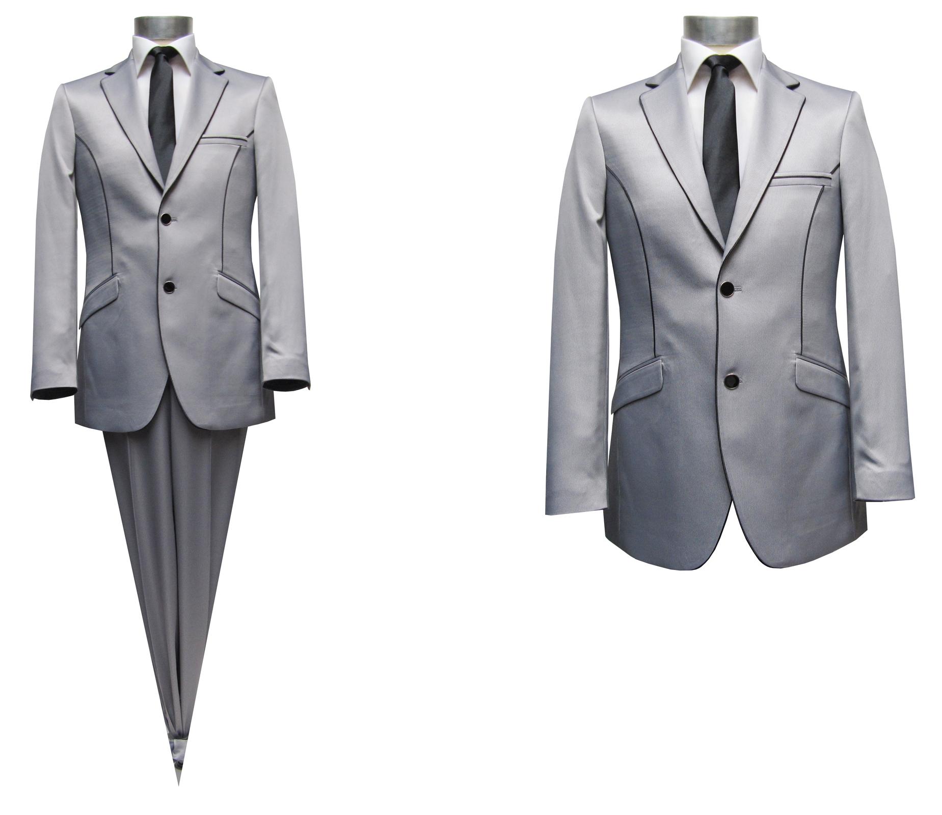 Anzug Gr.48 Elegant grau Herren Anzug Elegant