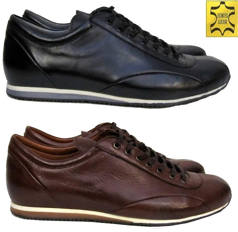 8812f280774105 Muga Leder-Sneaker- Business-Freizeitschuhe In den Farben Schwarz und Braun  Größe 40. Design by MUGA ®