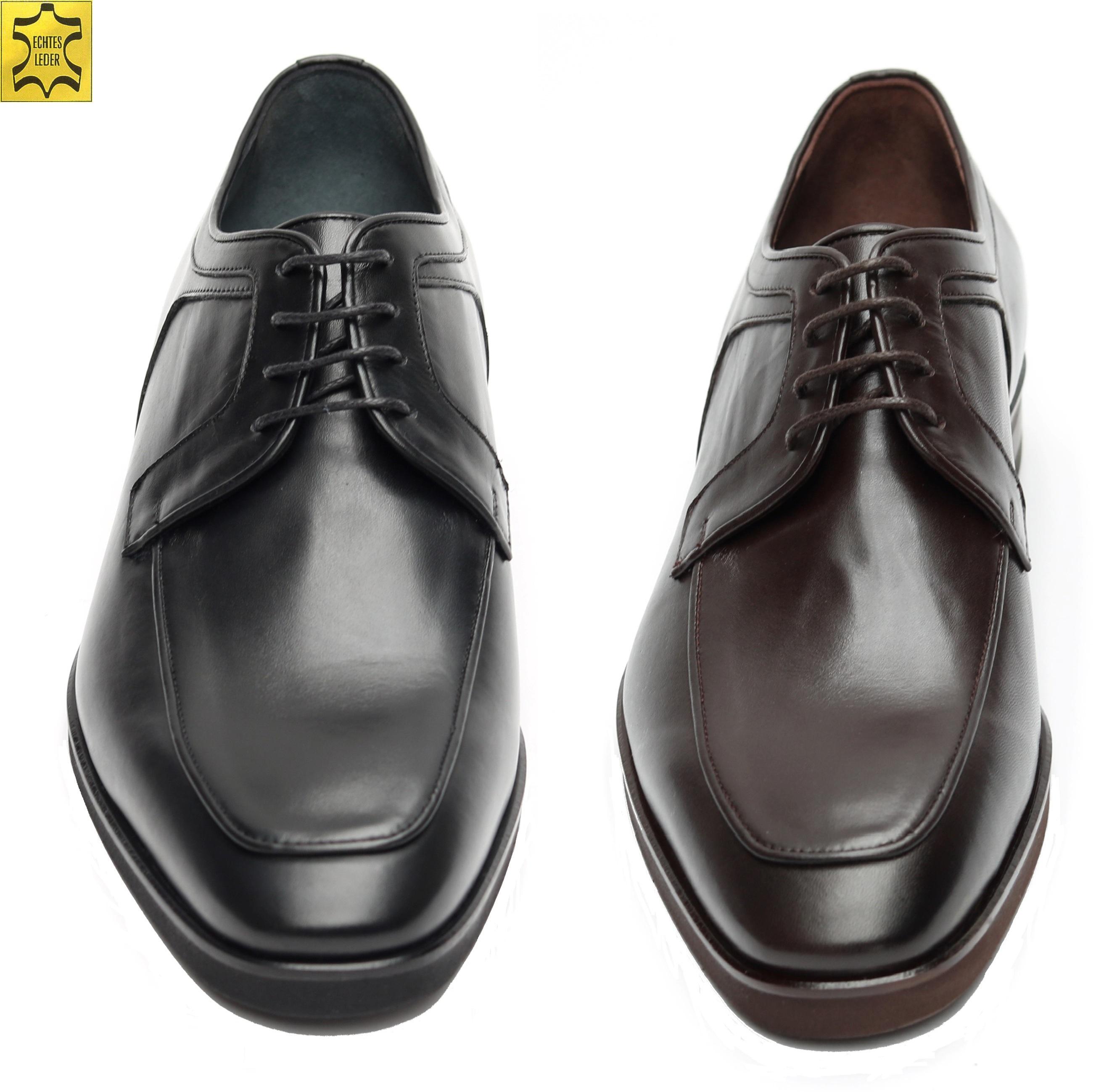 3a96cac02dc24c Elegante Herren Schuhe für viele Anlässe Schwarz und Braun Größen 39-46.  Designed by MUGA ®