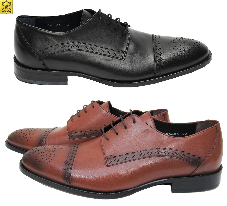 6a7fb123d0aaac Elegante Herren Leder Schuhe aziko 286