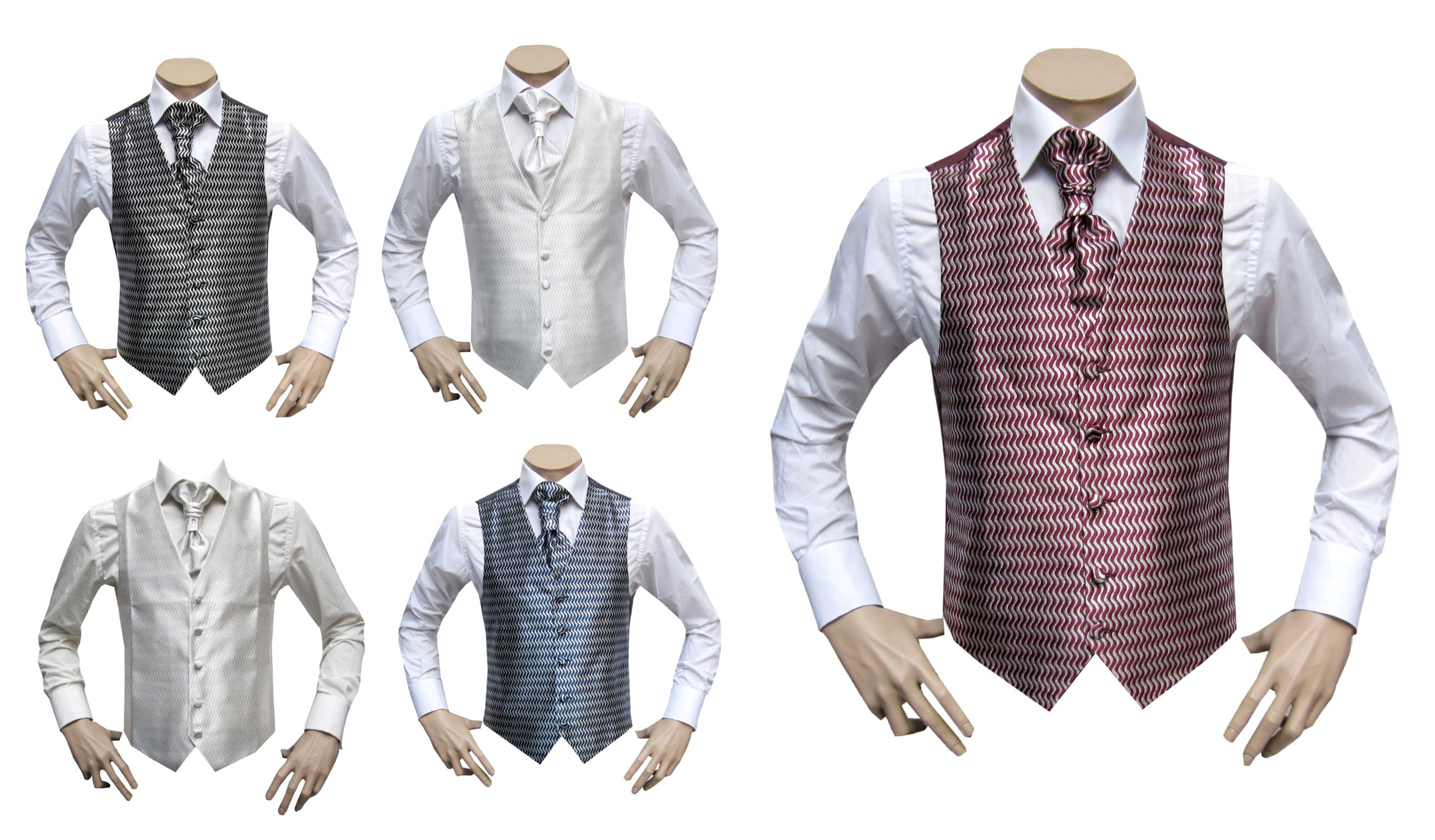 Mariage Homme Gilet+Lavalier+Pochette+Epingle Disponible en 5 couleur 5bb928f82e0