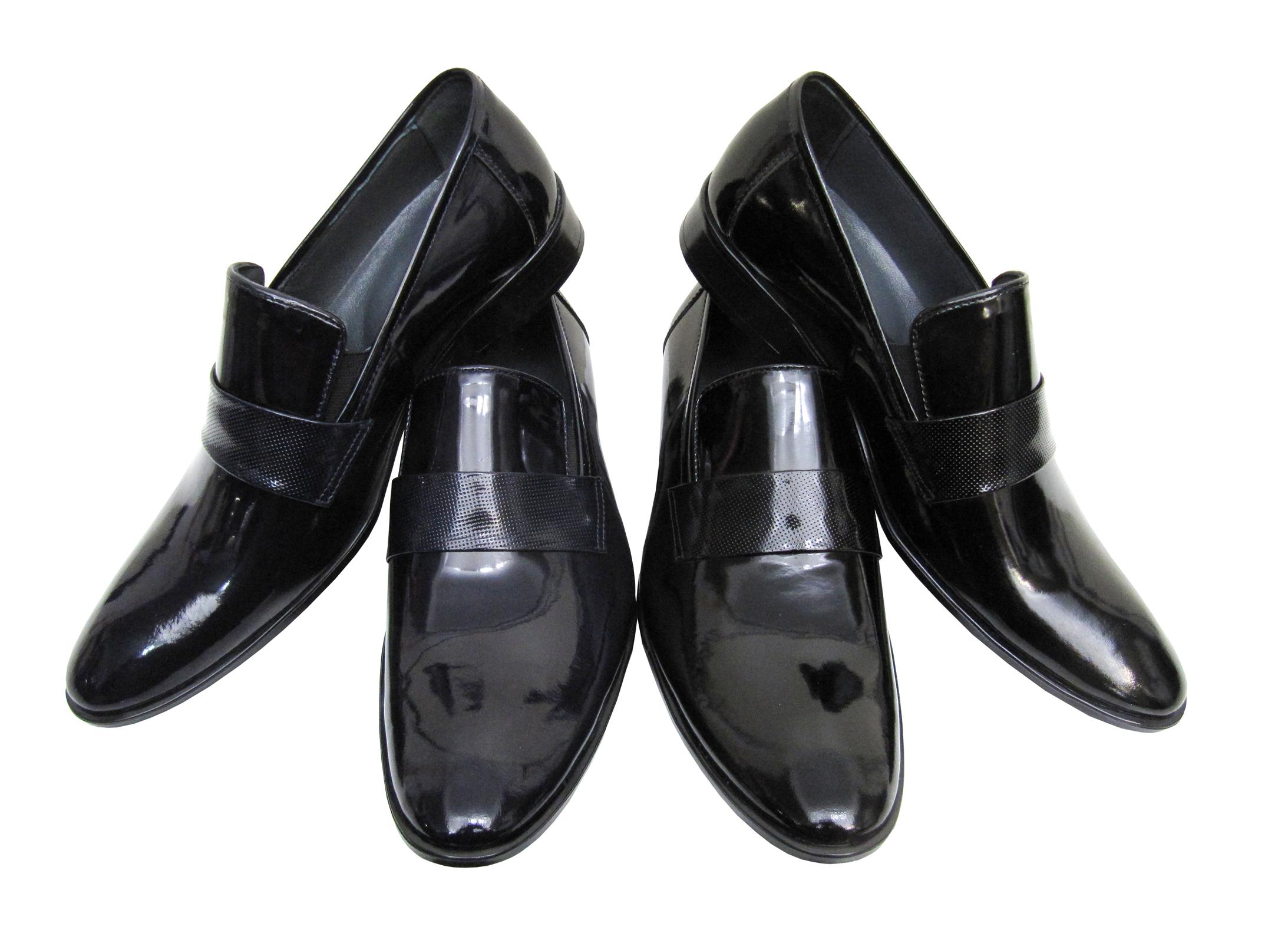 f93d93543fa02b Herrenschuhe Slipper Lack für viele Anlässe In den Farben Schwarz oder  Blau