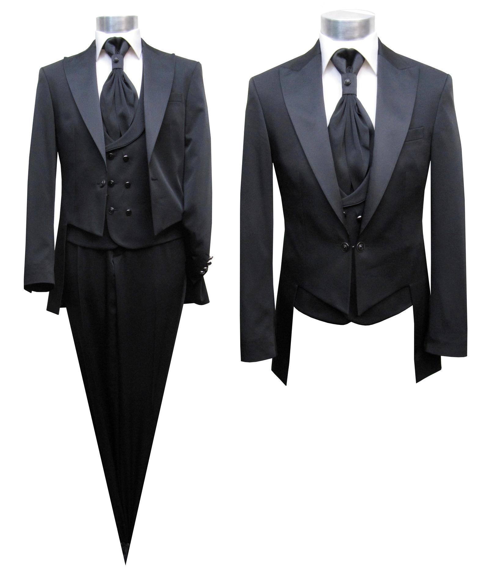 Details zu Ausgefallene Herren Hochzeitsanzug Gehrock 6 teilig Gr.66 Schwarz
