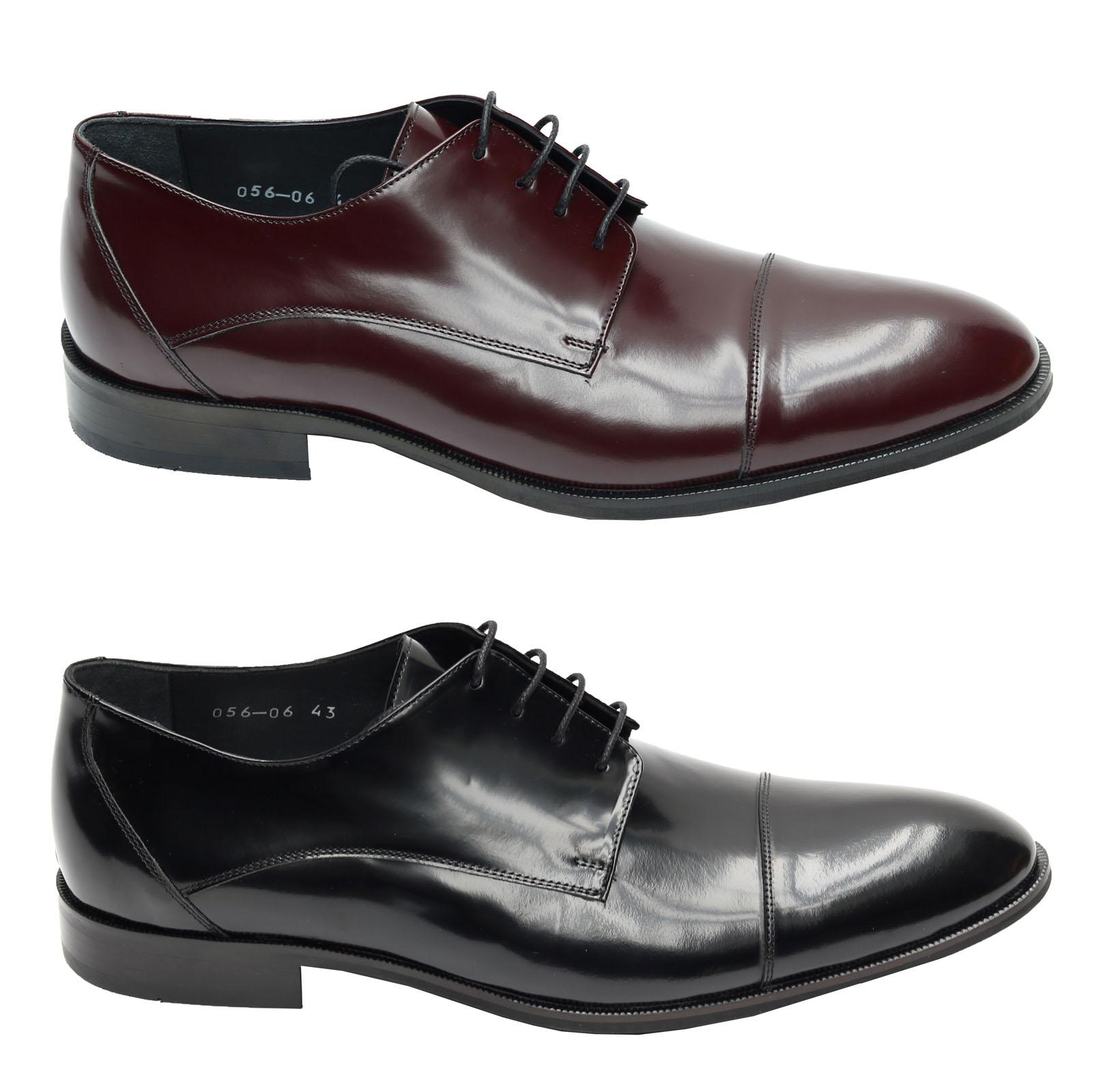 05b3116d2b7364 Elegante Herren Schuhe für viele Anlässe Schwarz und Bordeaux Größen 39-46