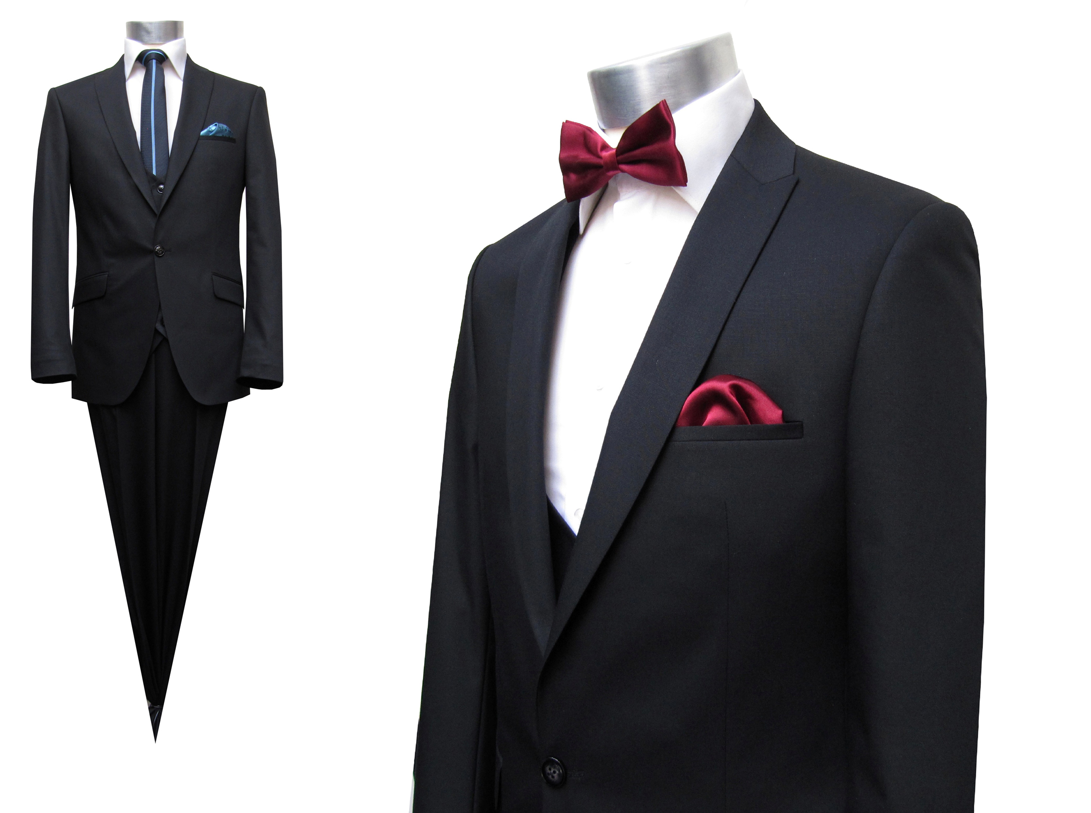 Anzug Uni-Schurwolle - Muga Herrenausstatter Hochzeit Mode